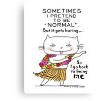 Being normal is... boring! / Cat doodle Canvas Print