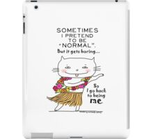 Being normal is... boring! / Cat doodle iPad Case/Skin
