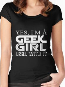 Geek Girl Women's Fitted Scoop T-Shirt