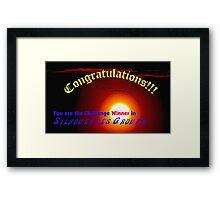 Silhouettes  Challenge winner Banner Framed Print