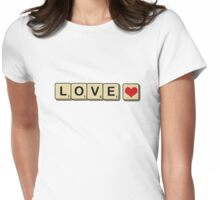 LOVE Scrabble Womens Fitted T-Shirt