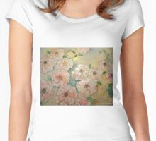 ABUNDANT ROSES 2 Women's Fitted Scoop T-Shirt