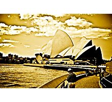 One golden day in Sydney... Photographic Print