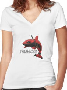 Killerpool Women's Fitted V-Neck T-Shirt