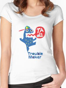 Trouble Maker- Ta Da Women's Fitted Scoop T-Shirt