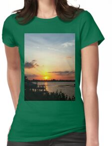 Dock on the bay Womens Fitted T-Shirt