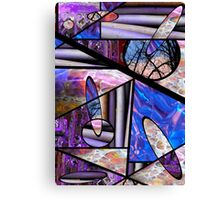 Stain Glass Image Collage Canvas Print