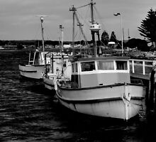 Boats at Rest. by waxyfrog