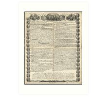 First Draft of the Declaration of Independence by Kurz & Allison Art Print
