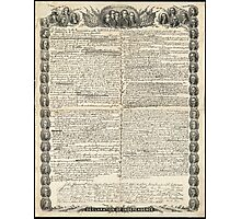 First Draft of the Declaration of Independence by Kurz & Allison Photographic Print