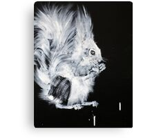 AND THE WORLD GOES ON  #squirrel Canvas Print