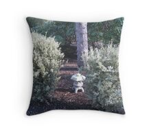 Twin Blooming Annual Bushes Throw Pillow