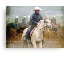 Rainy Day Cowboys II   Canvas Print