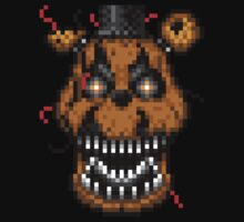 Five Nights at Freddys 4 - Nightmare Freddy - Pixel art Kids Clothes