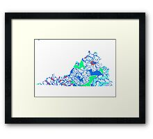 Lilly States - Virginia Framed Print