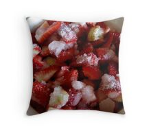 Strawberries And Sugar Throw Pillow
