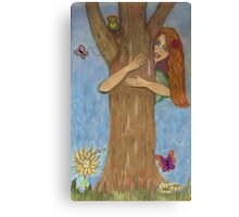 Hug a Tree for Earth Day!  Canvas Print