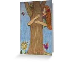 Hug a Tree for Earth Day!  Greeting Card