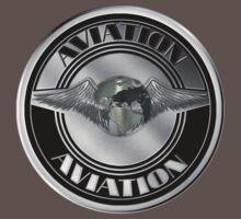 Retro Aviation Art Badge by Packrat