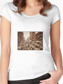 New York in 1890 Women's Fitted Scoop T-Shirt