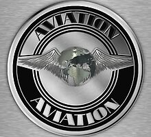 Retro Aviation Art Badge by Packrat