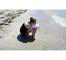 Mommy and Baby at the beach Photographic Print