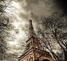 Looking up at the Eiffel Tower by Marzena Grabczynska Lorenc