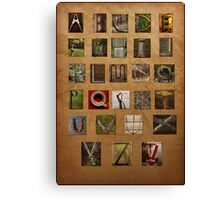 Alphabet Again Canvas Print