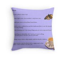 Rule of Mum Throw Pillow