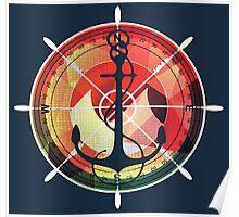 Captains sea anchor maritime sailor  Poster