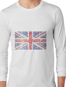 UK CITY NAMES FLAG Long Sleeve T-Shirt