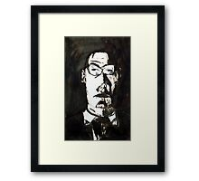 A Father, 1997, Ink on Paper, Justin Curfman Framed Print