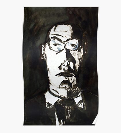 A Father, 1997, Ink on Paper, Justin Curfman Poster