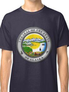 Alaska State Seal over Blue Velvet Classic T-Shirt