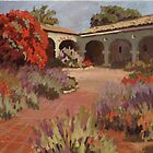 Mission Courtyard in Morning light by Robert  Ferguson