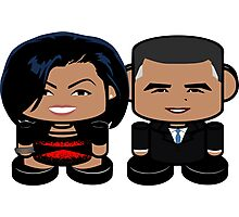 Obamas: Greater Together Politico'bot Toy Robots Photographic Print
