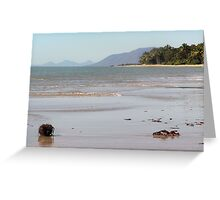 Down on the beach Greeting Card