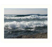 Wind and Waves on Lake Superior - Marathon Ontario Canada Art Print