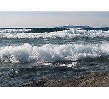 Wind and Waves on Lake Superior - Marathon Ontario Canada Photographic Print