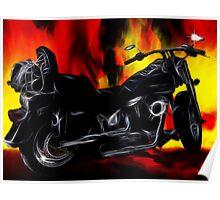 Harley Davidson_Flames Poster