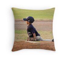 A Pitcher's Stance Throw Pillow