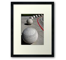 Curve Ball Framed Print