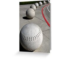 Curve Ball Greeting Card