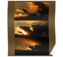 Sunset Tryptich Poster