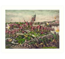 Battle of Belmont Boer-British War November 23 1899 Art Print