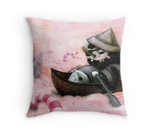 Man Overboard!!! Throw Pillow