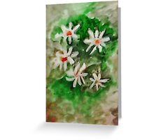 Antique Floral #3, watercolor Greeting Card