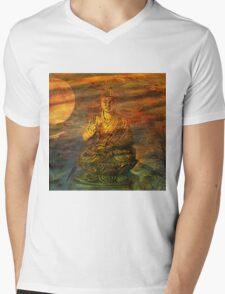 Buddha Dusk Mens V-Neck T-Shirt