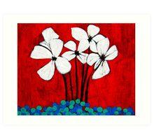 Marbled Floral Art Print