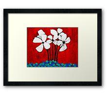 Marbled Floral Framed Print